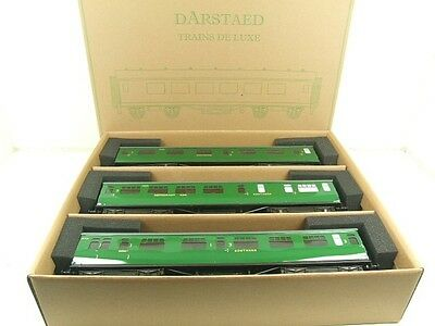 Darstaed O Gauge Southern Bulleid Corridor Coaches x3 Set B 2/3 Rail B/New Boxed
