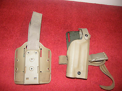 Rare NSW SEAL issue Safariland tan holster 6004-7700 Sig P226/ Surefire X200 UBL