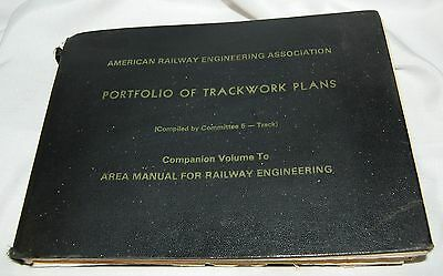 1982 Portfolio Trackwork Plans American Railral Eng. Assoc. (AREA) Railroads