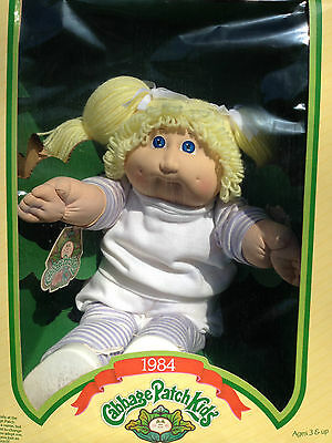 Reduced 25%: Vintage NEW IN BOX Cabbage Patch Girl Blond Hair, Blue Eyes
