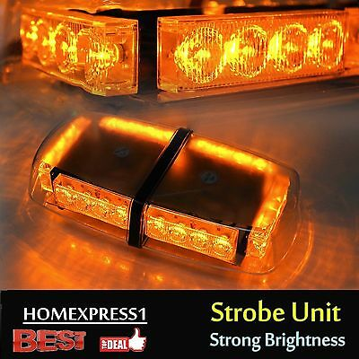 Roof Top 24 LED Warning Emergency Hazard Rooftop Flash Strobe Light Bar Amber YX