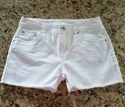 **Girls White Justice Jean Shorts Size 16**