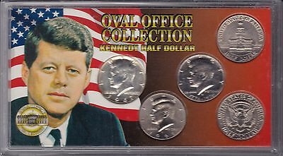 Oval Office Collection of Kennedy Half Dollars - in original plastic holder