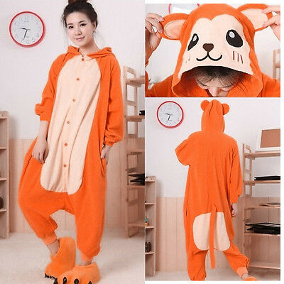 Unisex Adult Kigurumi Cosplay Animal Onesie Pajamas Sleepwear Halloween Costume