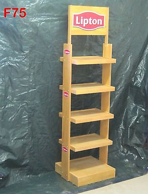 Original Lipton Iced Tea Drink Wooden Grocery Store Stand Bottle Case Rack Cool