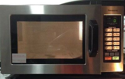 Panasonic NE-1054F Stainless 1000W 0.8 Cu. Ft. Commercial Microwave Oven Used
