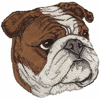 "English Bulldog Embroidered  Patch Approx 5.04 "" W X 5.11 "" H"
