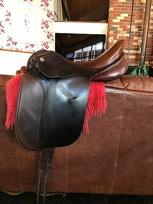 17 Inch K N Brown Leather Dressage Saddle