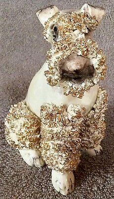 Wire Fox Terrier Spag Seated Gold 5 x 4 - Lot FT3