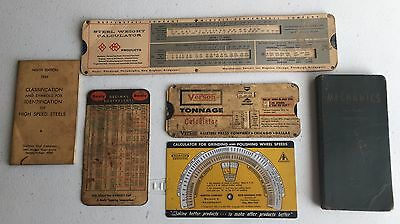 Lot Of Machinist Data Charts Reference Material
