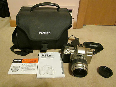 Pentax MZ60 Camera with Pentax 28/90 lens, case, straps/Manual