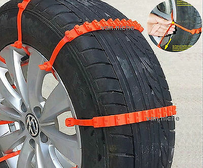 Simple Universal Anti-Skid Snow Winter Tire Chain for Vehicle SUV Car Motorcycle