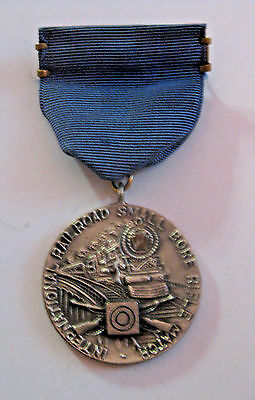 Antique 1939 Pennsylvania Railroad Small Bore Shoot Championship Sterling Medal