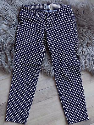 Old Navy Pixie Pants Ankle length Polka dot navy white stretch Trousers sz 6