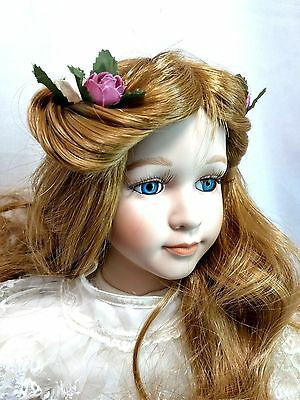 """Dynasty Collection QVC Vintage 1991 Butterfly Princess 18"""" Porcelain Doll MIB"""
