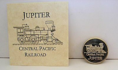 Central Pacific Railroad Train Utah Golden Spike Struck On One Cent Copper Coin