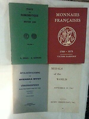 world coin reference book lot 4pcs incl monnaies francaises gadoury