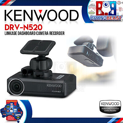New Kenwood Drv-n520 Full 1080 Hd Recording Dash Crash Cam Hdr & Parking Mode