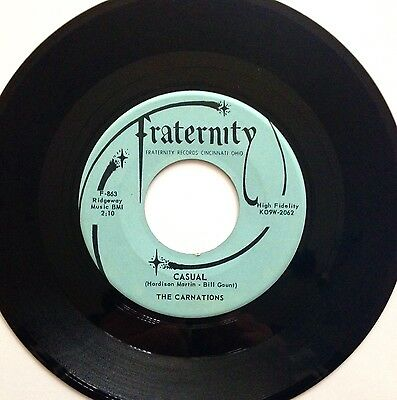 Casual - The Carnations - Fraternity Records - Original Us Press - Instrumental