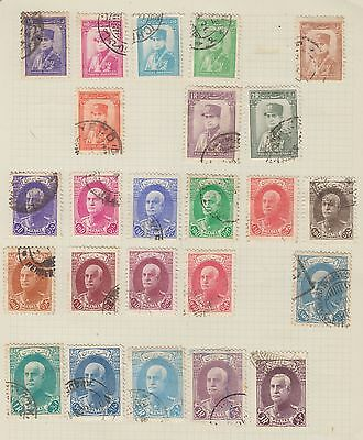"£1.49 start -  An old album page of ""PERSIA"" issues Used (1936-8)"