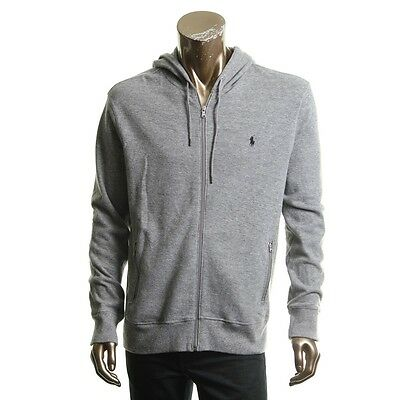POLO RALPH LAUREN NEW Men's Gray Full Zip Performance Hoodie L TEDO