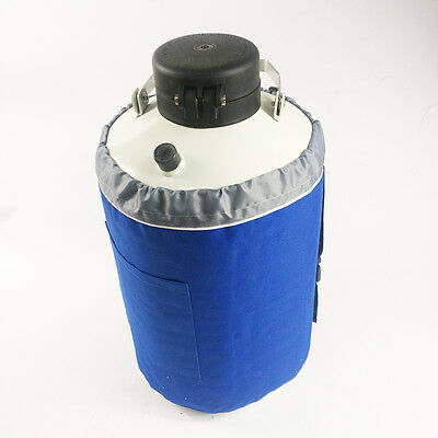 In USA 10L Liquid Nitrogen Tank Cryogenic Container LN2 Dewar Pails Lock Cover
