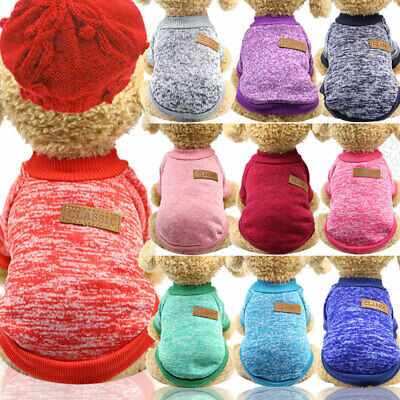 Pet Coat Dog Jacket Spring Clothes Puppy Cat  Sweater Coat Clothing Apparel New