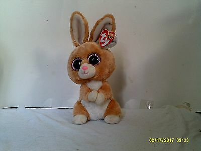 "Ty Beanie Boos Carrots The Easter Bunny Rabbit 6"" NWT ~Glitter Eyes~ Retired"