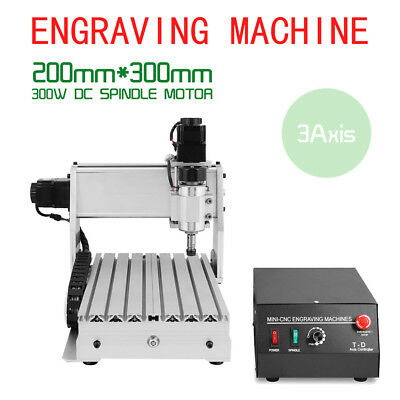 US Stock 3 AXIS ENGRAVER 3020T ROUTER ENGRAVING DRILLING MILLING 3D CUTTER CNC