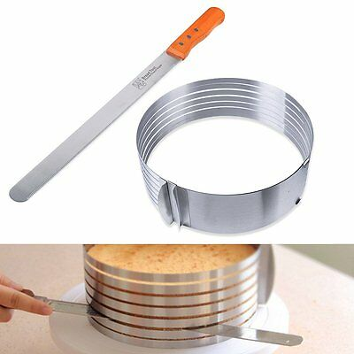 High Quality Stainless Steel Adjustable 6 Layer Cake Slicer Mould Cutting Guide