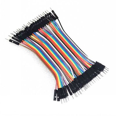 40pcs 1pin 10cm 2.54mm male to male Breadboard Jumper Wire Cable for Arduino