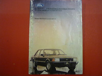 Ford Xd Fairmont Ghia Drivers Operating Instructions Book
