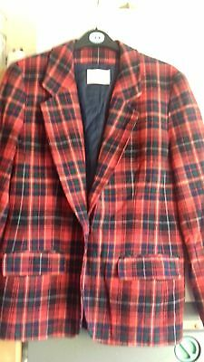 Stunning Vintage Pendleton Red Tartan Check Wool Jacket Blazer