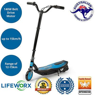 BULLET TRZ Electric Scooter 140W Adjustable and Foldable for Adults /Kids Blue