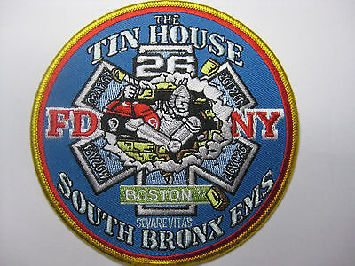 U.s. Fire Brigade Fire Patch Patch Fdny Ems 26 The Thin House South Bronx