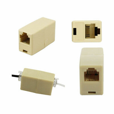 2 X Plastic RJ11 Coupler Telephone Phone Cable Line Adapter Connector