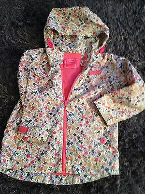 girls Next cream/ floral raincoat age 4/5 years