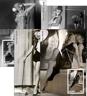 Marilyn Monroe 4 Souvenir Sheets Mnh Imperforated