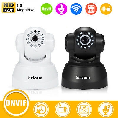 Sricam SP012 Wireless 720P Wifi IP Camera Security Night Vision TwoWay Voice 1MP