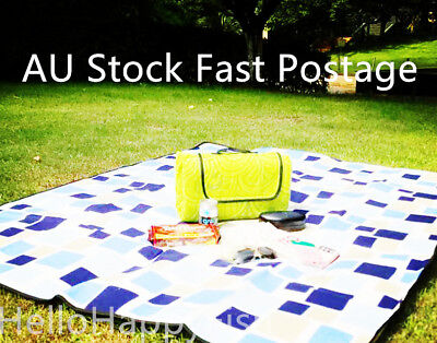 Large Picnic Rug Outdoor Blanket w/ Water-Resistant Padding for Camping & Beach