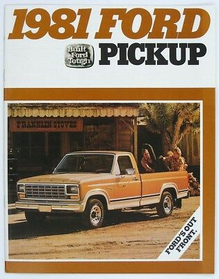 Ford 1981 Pickup F-100 F-150 F-250 F-350 F-350 DR Dealer Sales Brochure