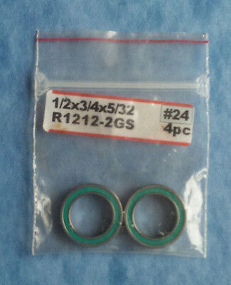 Bearing Green Rubber Seal 1/2 X 3/4 X 5/32 2Pcs Losi 8Ight A6953 #r1212-2Gs #24