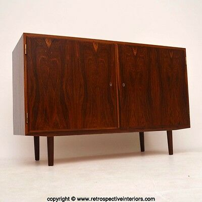 DANISH ROSEWOOD RETRO SIDEBOARD / CABINET BY POUL HUNDEVAD VINTAGE 1960's