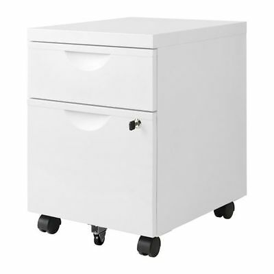 Drawer unit w 2 drawers on castors	ERIK White  41x57 cm