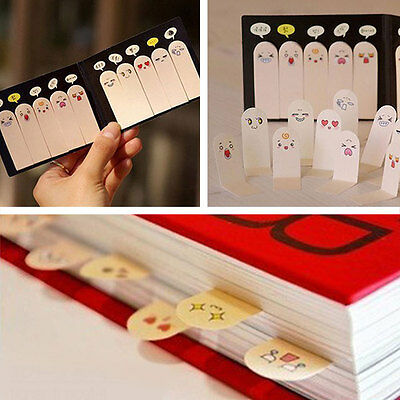 200pages Sticker Post-It Bookmark Flags Ten Fingers Memo Sticky Pad Stationery