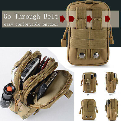 Men Military Camping Tactical Camping Hiking Travel Bags Outdoor Waist Belt Pack