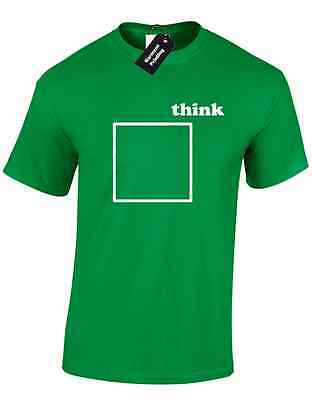 Think Outside The Box Mens T Shirt Amusing Quote Retro Novelty Casual Top