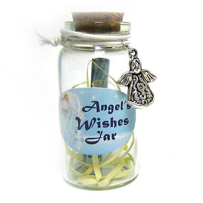 Angel Wishes Jar With Angel Trinket And Scroll  6cm x 3cm