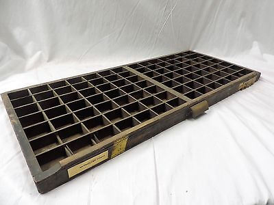 Superb Vintage French PRINTERS TRAY Old Letterpress typecase drawer display box