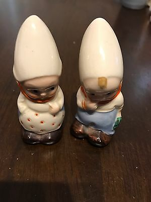 Dutch(?) Couple/ Children Salt And Pepper Shakers